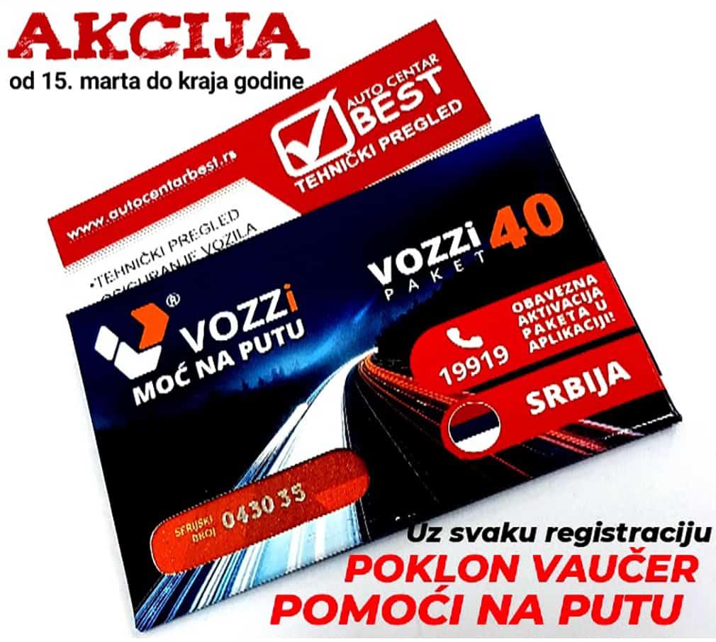 Registracija vozila poklon akcija